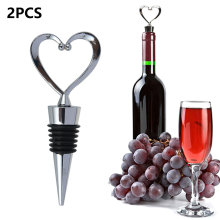 Red Wine Champagne Wine Bottle Stopper Heart Shaped Valentines Wedding Gifts Set Wine Stopper Bar Accessories Home Bars