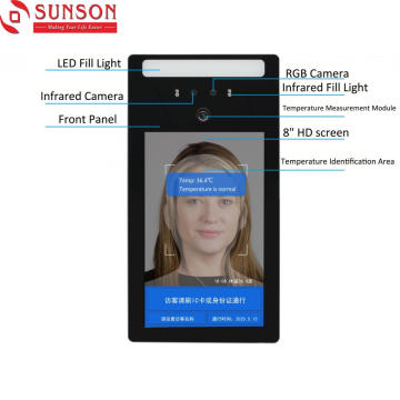 Face Recognition Thermal Image Temperature Scanner