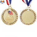 Custom gold award flag medals