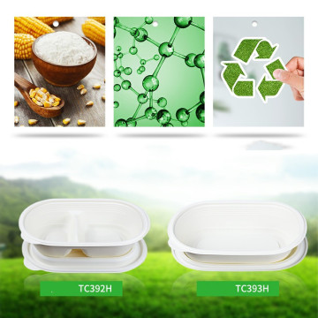Biobased degradable starch plastics