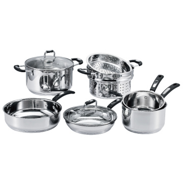 12 Pieces Cookware Set with Steamer