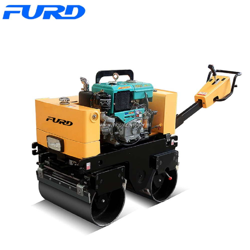 800Kg Double Drum Manual Road Roller Compactor
