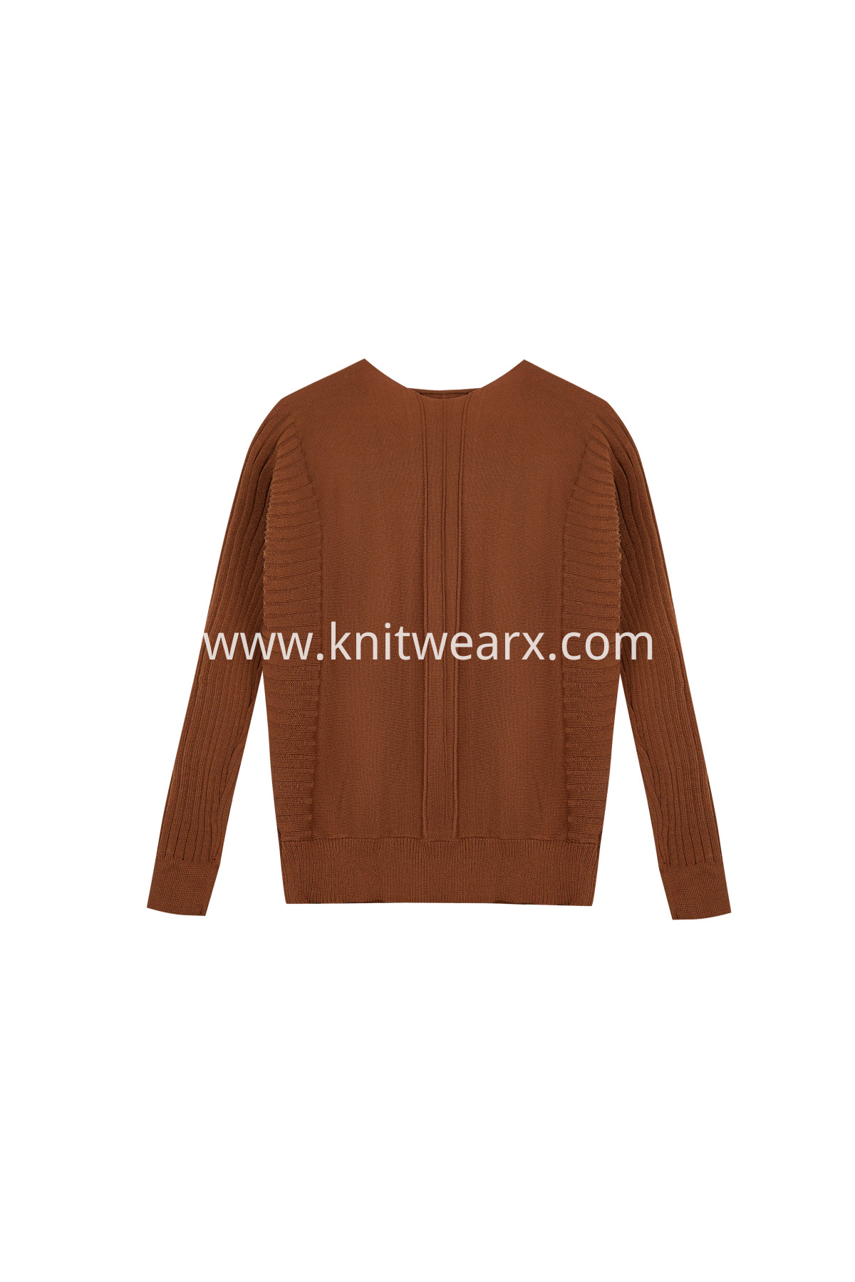 Women's Boat Neck Batwing Rib Sleeve knitted Pullover