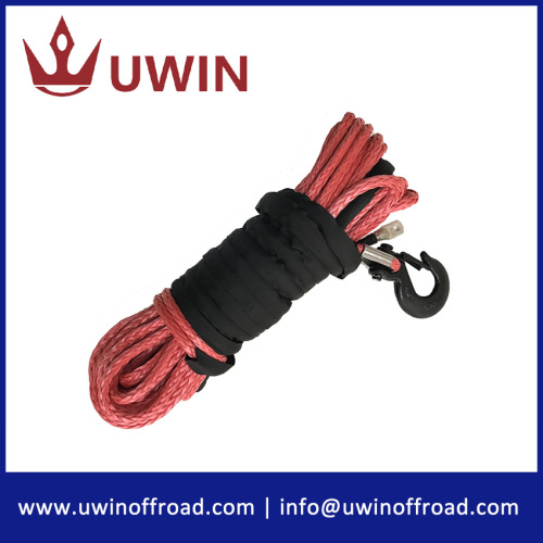 3/8'' 100' Red Color Synthetic Winch Line