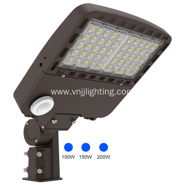 100w led shoe box light IP66 daylight sensor