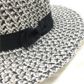 D Graph style paper straw hat custom logo
