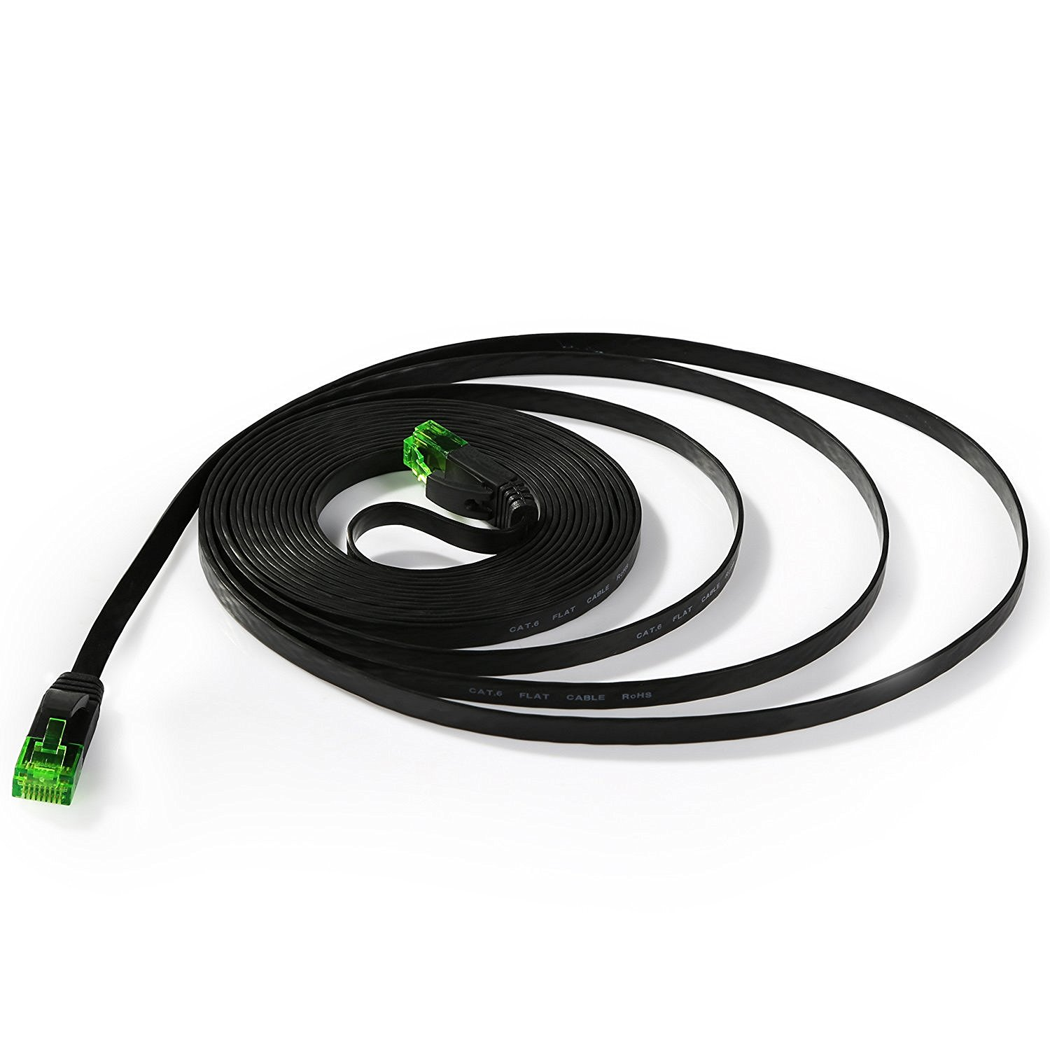 Green-cat6 flat patch cable-3
