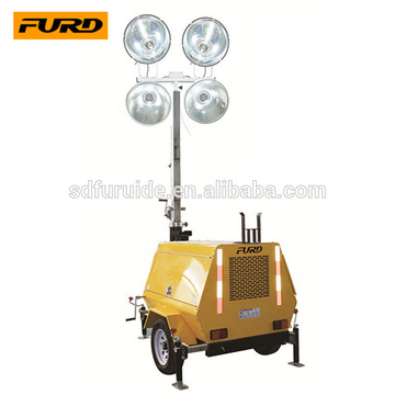 Trailer Mobile Mast Light Tower With Diverse Generator