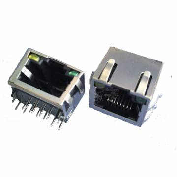RJ45 Side Entry With LED EMI Peg Type