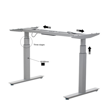 2018 Hot Dual Motor Metal Height Adjustable Desk