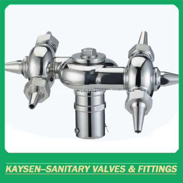 sanitary double circulation bolted rotary cleaning ball