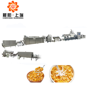 Breakfast cereal extruder machine corn flakes machinery