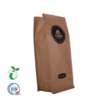 Environmentally friendly kraft paper coffee bean bag