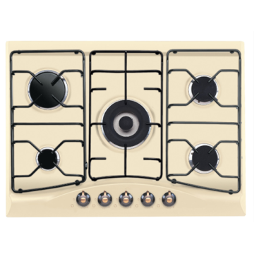 Indesit Hobs Stove Steel Top 5 Burner