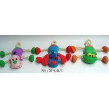 Brightly yarn string animals toys