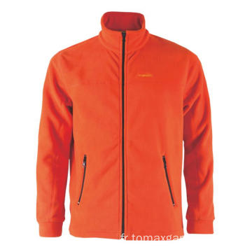 Veste polaire orange tendance