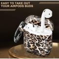 Custom Leopard Airpod Case Cover with Keychain