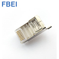 Plugue modular do conector RJ45 de Cat5e 8P8C STP