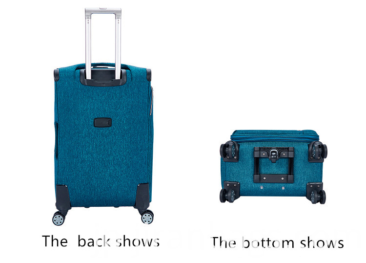 Wear-resistant waterproof carry on softside luggage