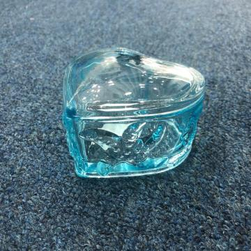 New hand pressed blue ocean design empty glass candle jar