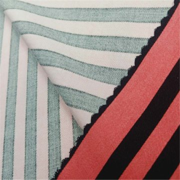 Rayon striped printed cloth suitable for women