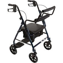 4 wheels seated lightweight adjustable height Rollator Walker