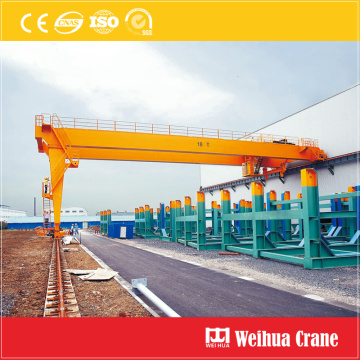 Outdoor semi gantry crane