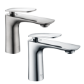 modern design chrome and nickel bathroom faucet