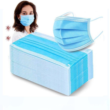 Face Mask Disposable 3 Layers Non-Woven Mouth Mask