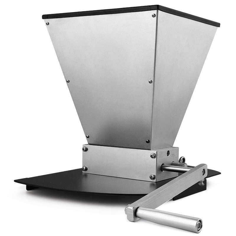 Grain Crusher Double Roller Malt Mill, Home brewing Wheat Barley Grinder 2-Roller Grain Mills with Hopper and Metal Base Stand