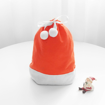 Red Santa Hat Drawstring Gift Packing Bag