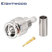 Eightwood Mini BNC 75 Ohm Plug Male Straight RF Coaxial Connector for RG179 Coaxial Cable