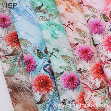 Custom Color Dyed Poplin Rayon Digital Print Fabric