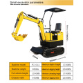 1.8 Ton Type And Capacity China Mining Backhoe Ce Rhinoceros Small For Sale New Mini Excavator