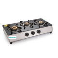 Placa de cocina de gas Glen 3 Burners SS Plus Glass