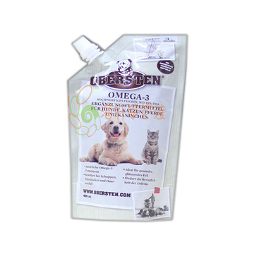 Dog Food Packaging Bag With Spout