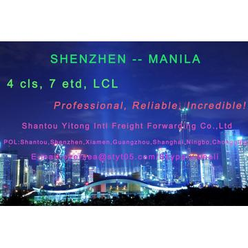LCL Consolidation Shipping from  Shenzhen to Manila