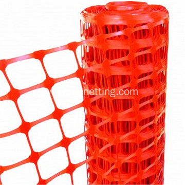 orange plastic road barrier safety net