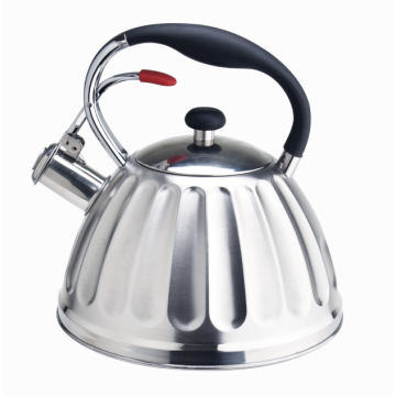 metal strong handle whistling coffee tea kettle