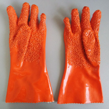 Orange grain Flannel lining gloves 35cm