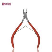 Rubber soft handle nail cuticle nipper