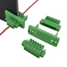 3.81mm pitch panel through mount terminal block
