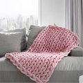 Pink Knitted Bed Blanket