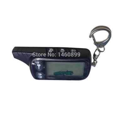 10pcs/lot 2-way TZ 9010 LCD Remote Control Key Fob Keychain for Russian Version Tz9010 two way car alarm system Tomahawk Tz-9010