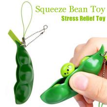 Decompression Edamame Toys Squishy Squeeze Peas Beans Keychain Anti Stress Adult Toy Rubber Boys kids Pop It Fidget Stress Toys