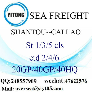 Shantou Port Sea Freight Shipping To Callao
