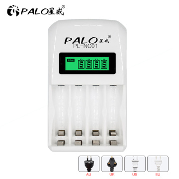 4 slots LED battery charger battery compatible with fast charging for AA / AAA Ni-MH nimh ni mh / Ni -cd rechargeable battery