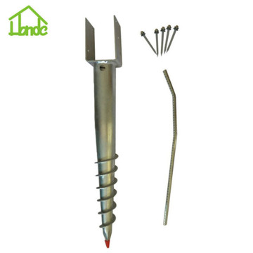 Steel ground screw pole anchor for sale