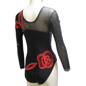 Mesh Sleeve Competition Dance Leotards