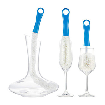 Soft Foam Wine Bottle Brush Decanter Stemware Glasses Dust Cleaning Brush Flexible Win Bar Set Cleaner